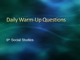Daily Warm-Ups, Review Game, Social Studies, World Geography, History, Economics