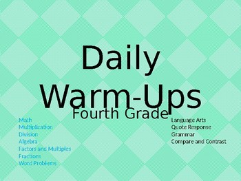 Daily Warm-Ups Fourth Grade
