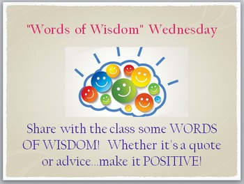 Daily Warm-Ups (Question of the Day, Bell Work, Morning Messages, Advisory)