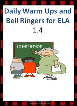 ELA Bell Ringers - week 4 (Common Core Aligned)