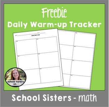 Daily Warm-up Sheet