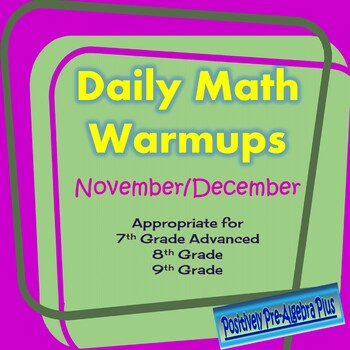 Daily Warm-ups for Common Core Math November-December