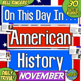Daily Warmups & Bell Ringers for American History! On This