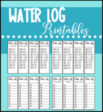 Daily Water Log Printable