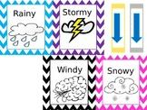 Daily Weather Board Bright Colors and Chevron Border