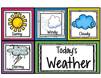 Daily Weather Chart for Calendar Activities