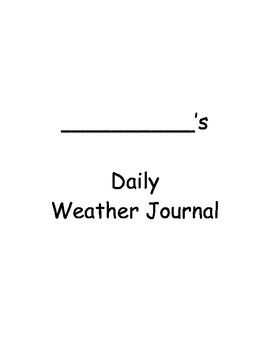 Daily Weather Journal