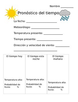 Daily Weather Report in Spanish