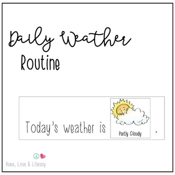 Daily Weather Routine - Watercolor illustrations