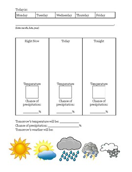 Daily Weather Worksheet