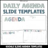 Daily + Weekly Agenda Google Slides - Editable Templates #10