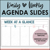 Daily + Weekly Agenda Google Slides - Editable Templates #10