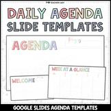 Daily + Weekly Agenda Google Slides - Editable Templates #