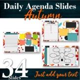34 Daily / Weekly Agenda Slides + BONUS Graphic Organizers