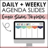 Daily + Weekly Agenda Slides - Editable Google Slides Temp