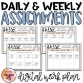 Daily & Weekly Assignment Slides - Digital Work Plan - Dis