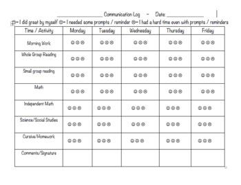 Daily/Weekly Behavior Log
