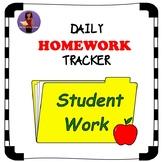 Daily/Weekly Homework Tracker