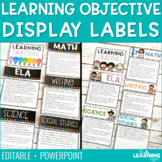 Learning Objective Display Labels