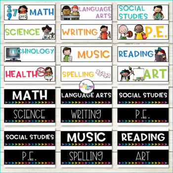 Learning Objective Display Labels | Editable