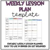 Lesson Plan Template *Editable*