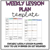 Lesson Plan Template *Editable & Digital*