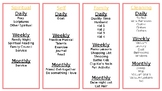 Daily, Weekly & Monthly Checklists for Mom