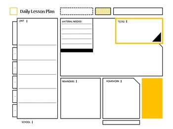 Daily/Weekly/Monthly Lesson Planner ( yellow )
