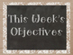 Daily/Weekly Objective Display in Burlap or Denim