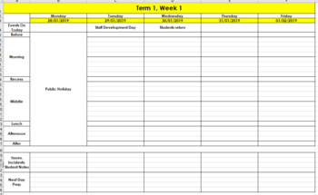 image about Digital Day Planner identified as Every day/Weekly Planner (electronic and printable)