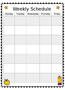 Daily/Weekly Schedule