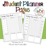 Daily, Weekly, & Monthly Student Planner Pages