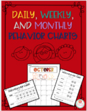 Daily, Weekly, and Monthly Behavior Charts