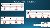 Music Word of the Day - Note Reading