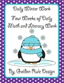 Daily Winter Literacy and Math Work