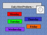Daily Word Problem Power Point Template