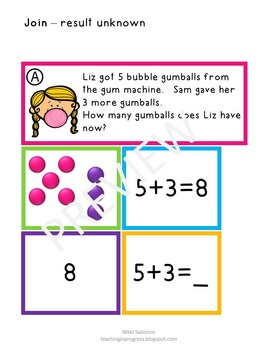 Daily Word Problem Practice:  Bubblegum Trouble