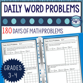 Daily Math Word Problems - 3rd/4th Grade