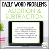 Daily Word Problems: Addition & Subtraction (SOL 4.4)