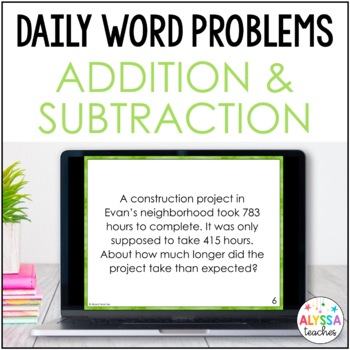 Daily Math Review: Addition & Subtraction