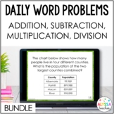 Daily Math Review Bundle (Addition, Subtraction, Multiplication, Division)