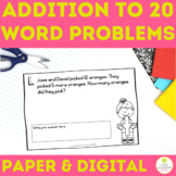 Addition to 20 Daily Word Problems First Grade