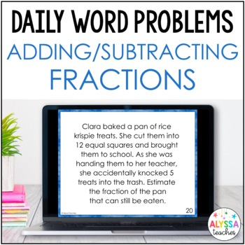 Daily Word Problems: Fraction Addition & Subtraction (SOL