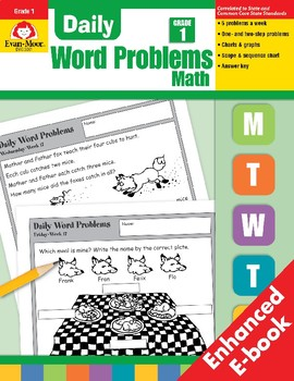 Daily Word Problems, Grade 1