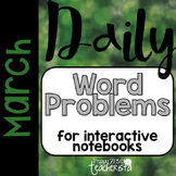 Daily Word Problems: March