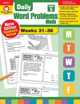 Daily Word Problems: Math, Grade 5, Weeks 31–36
