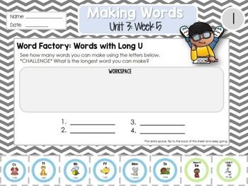 Daily Word Work: 2nd Grade Unit 3: Week 5
