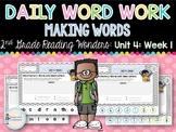 Daily Word Work: 2nd Grade Unit 4: Week 1