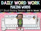 Daily Word Work: 2nd Grade Unit 4: Week 2