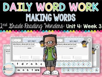 Daily Word Work: 2nd Grade Unit 4: Week 3